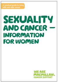 Image of the front cover of the booklet, Sexuality and cancer - information for women