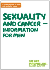 Image of the front cover of the booklet, Sexuality and cancer - information for men