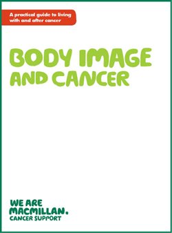Front cover of Macmillan's booklet Body image and cancer