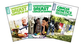 Cover images of Macmillan's breast cancer resources