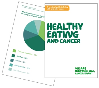 Image of the Healthy Eating and Cancer booklet