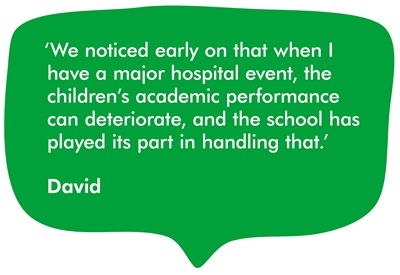 A quote from our supporter David