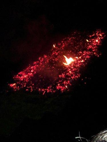 Hot coals before Isis's firewalk