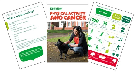 An image of our Physical activity and cancer booklet