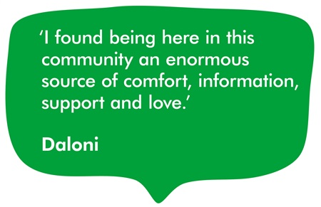 A quote from our supporter, Daloni