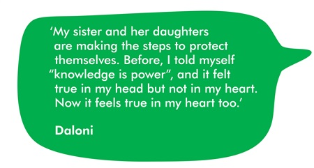 A quote from our supporter Daloni