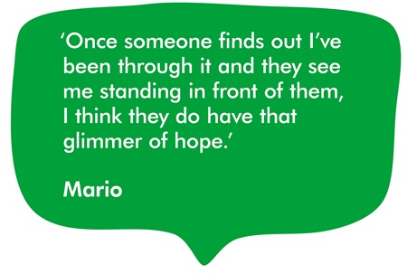 A quote from our supporter, Mario