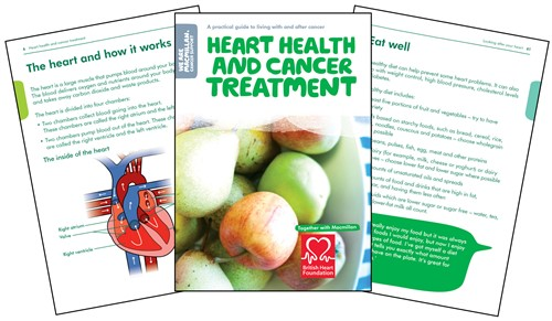 An image of the Heart health and cancer treatment booklet
