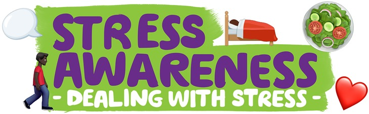 This is a banner for Stress Awareness Month.